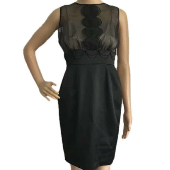 Max & Cleo Dresses & Skirts - MAX & CLEO Sheer Black Cocktail Dress Party 4